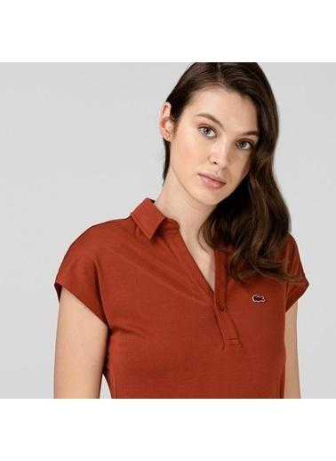 Lacoste Kadın Kısa Kollu Elbise EF0005.05R Bordo